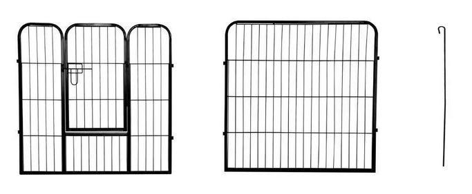 Custom Large Size Durable Galvanized Iron 8-panel animal exercise play pen09
