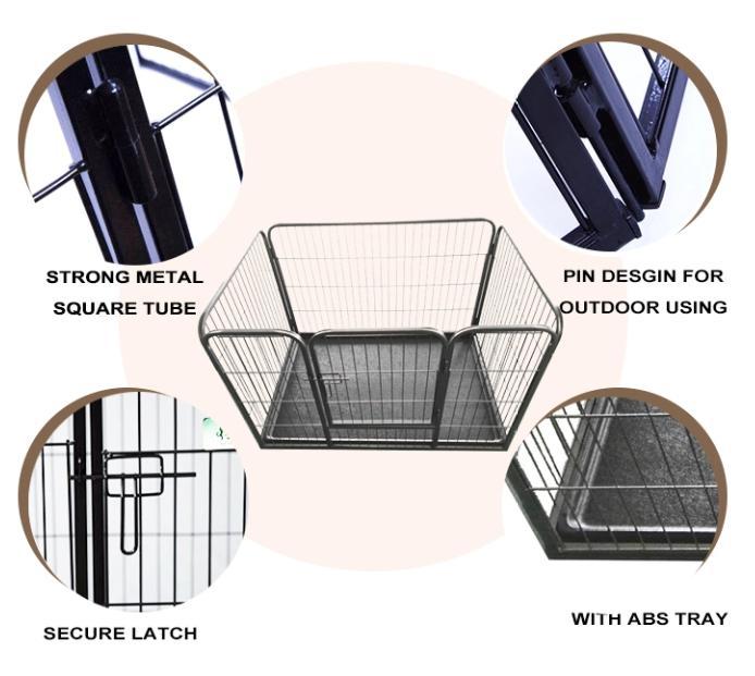 DIY Exercise Metal playpen 16 pcs Pet Dog Cat Barrier Fence05