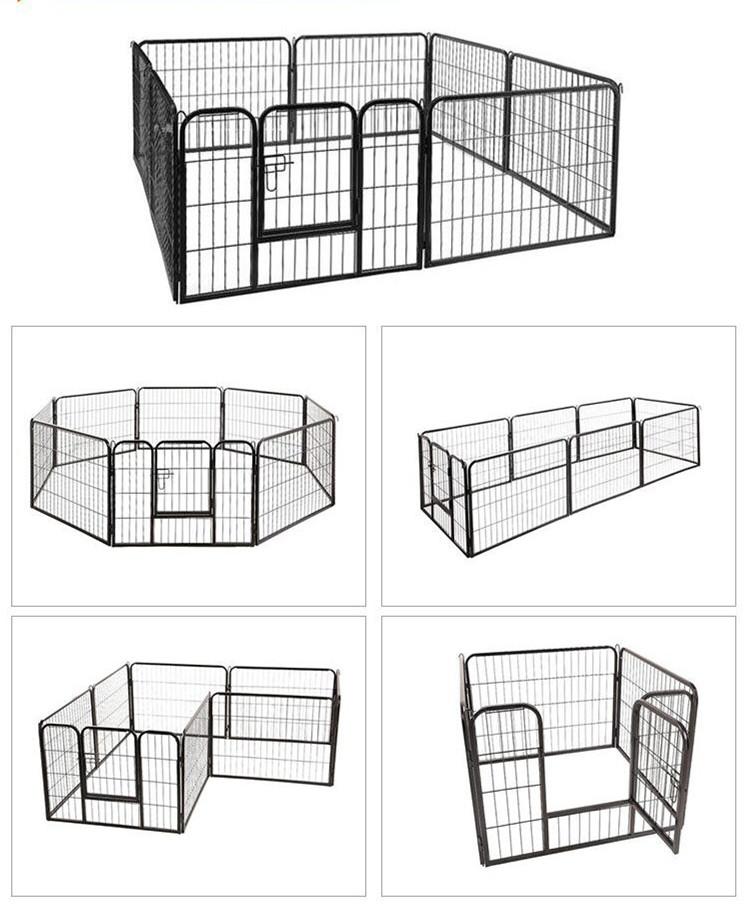 DIY Exercise Metal playpen 16 pcs Pet Dog Cat Barrier Fence06