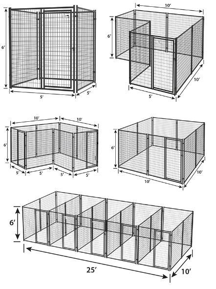 Modular black powder coated steel tube pet crate cages dog boarding kennels07