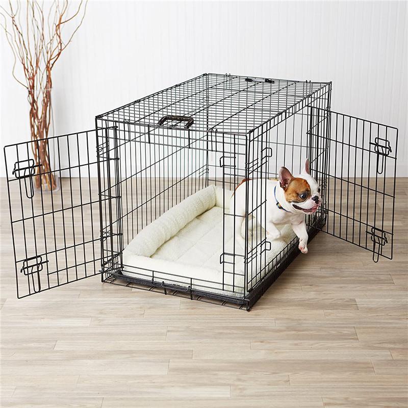 Multiple Sizes Double-Door Folding Metal Dog Cage