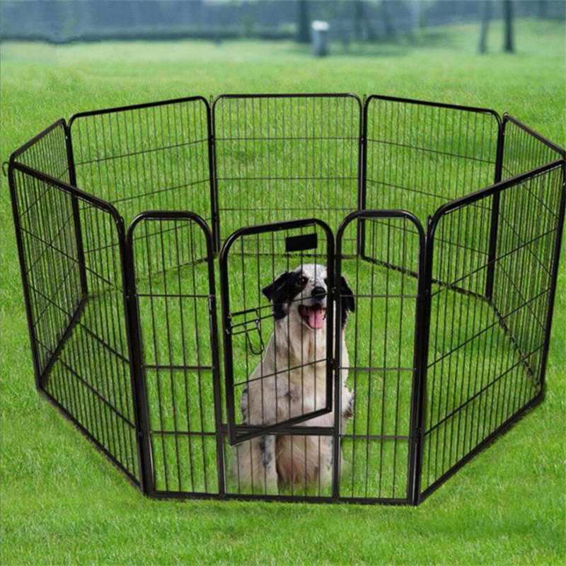 Temporary Large Outdoor Dog Fence Panel Folding Breeding Pet Pen04