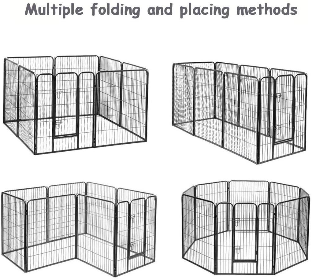 Temporary Large Outdoor Dog Fence Panel Folding Breeding Pet Pen06